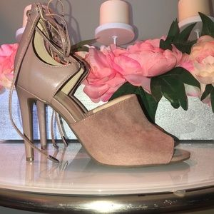 Marc Fisher Suede Taupe Heels Size 8M